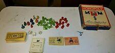 vintage 1935 Monopoly game minus game board