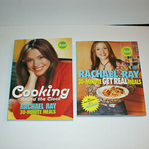 Lot of 2 Rachael Ray Cookbooks 30 Minute Get Real and Cooking Around The Clock