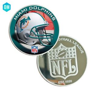 American-NFL-39mm-Coin-Holder-for-Necklace-Coin-Collectibles-MIAMI-DOLPHINS-Coin
