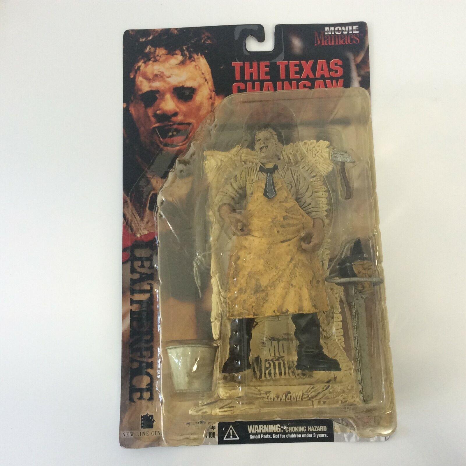 1998 McFarlane Juguetes Movie Maniacs El Texas Chainsaw Massacre Leatherface-en perfecto estado en Cochetón sellado