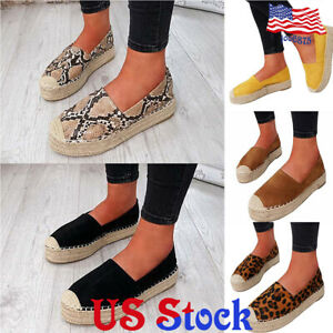 Women-Straw-Woven-Thick-Sole-Platform-Shoes-Round-Toe-Loafer-Slip-On-Lazy-Shoes