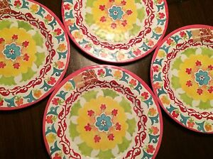 Image is loading Tommy-Bahama-4-Melamine-Indoor-Outdoor-Dinner-Plates- & Tommy Bahama - 4 Melamine Indoor Outdoor Dinner Plates - Tropical ...