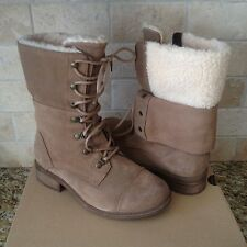 269971f6fa8 Women's Shoes UGG Gradin Lace up Combat BOOTS 1013421 Dark Chestnut ...