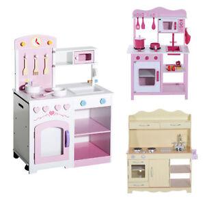 Kinderküche Spielküche Spielzeug Küche Ofen Mikrowelle Holz Cook Pfanne 3 Modell