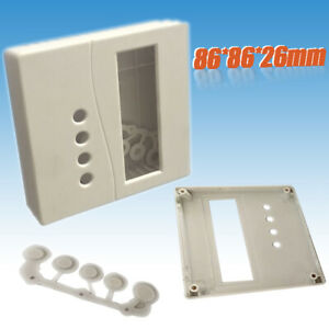 Plastic-Electronic-Project-Box-Enclosure-Case-to-DIY-LCD1602-W-Button-Caps-86mm