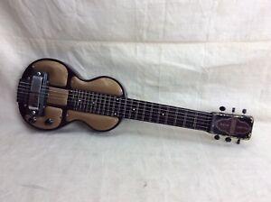 vintage 1940 39 s bronson by rickenbacker lap steel electric slide guitar model b6 ebay. Black Bedroom Furniture Sets. Home Design Ideas