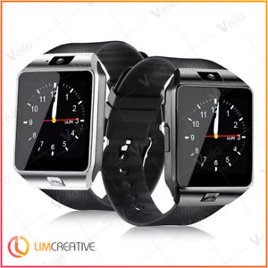 Nouveau-2019-Smart-Watch-telephone-DZ09-amp-Appareil-Photo-Bluetooth-Android-Noir