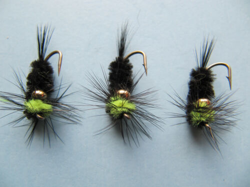 14 available 12 3 X GOLD BEAD MONTANA LIME NYMPH SHORT-SHANK HOOK sizes 10