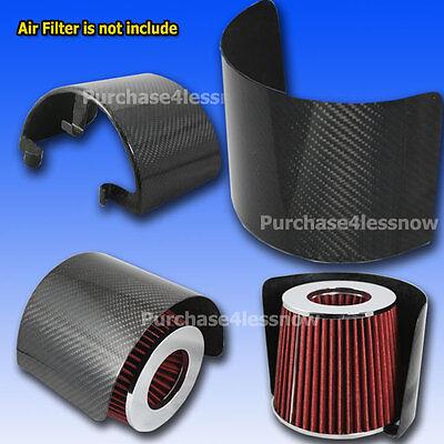 Universal Air Intake Short ram Corn Filter Heat Shield Cover filter carbon fiber