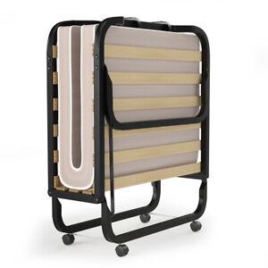 Folding Bed w/Memory Foam Mattress Rollaway Metal Bed Sleeper Made in Italy