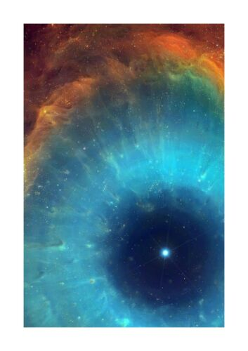 The Eye of Sauron Helux Nebula Hubble space telescope A4  poster choice of frame