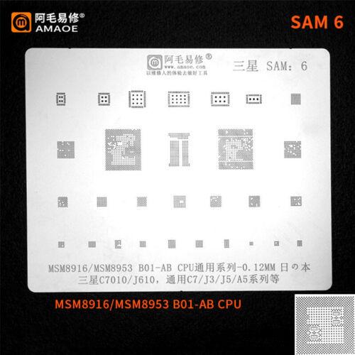SAM 12 BGA Reballing Stencil for Samsung Phone Tin Plant Net Set Amaoe SAM1