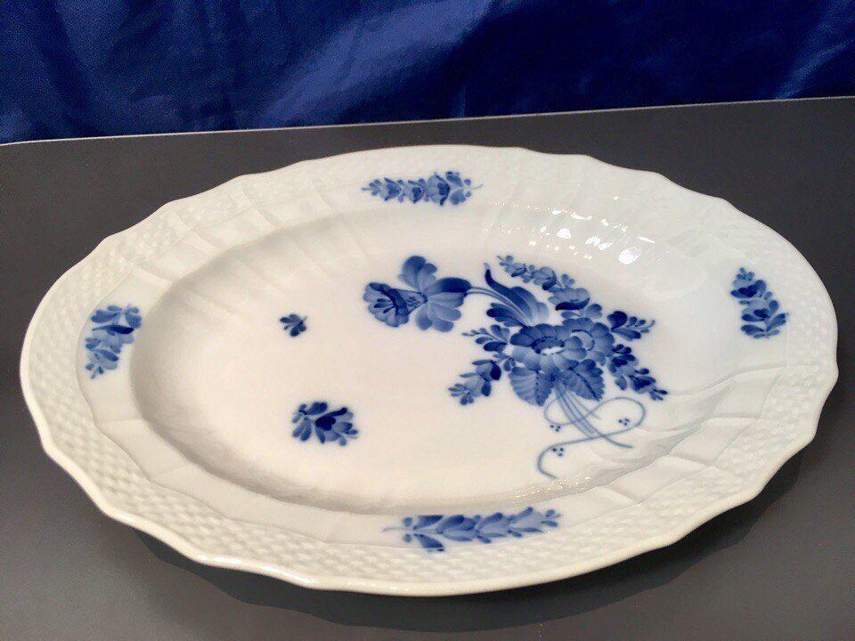 Royal Copenhagen bleu Flower Curved Oval Dish - 1106374 - Fad Ovalt - NEW IN BOX