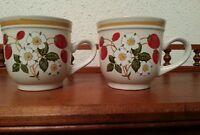 Strawberries N' Cream Coffee Cup Mug by Sheffield Stoneware