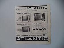 advertising Pubblicità 1963 TELEVISORE ATLANTIC MOD. 547/542/547-0