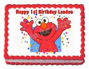 Image Is Loading ELMO Party Decoration Edible Cake