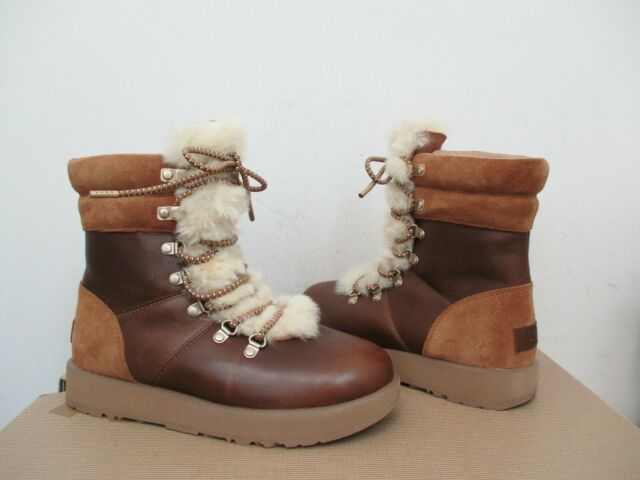 8f6a891586e UGG Women's VIKI WATERPROOF Boot 7US CHESTNUT Brown Leather NWOB $220 MSRP