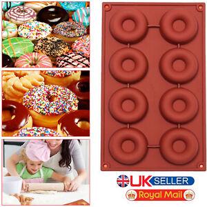 Silicone-Doughnut-Ice-Mould-Chocolate-Cake-Donut-Muffin-Mold-Baking-Pan-Tray-UK