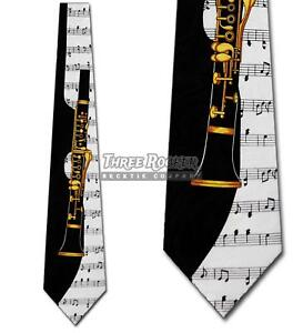 46e125a7f6b3 Image is loading Clarinet-Ties-Music-Neckties-Mens-Instrument-Sheet-Music-