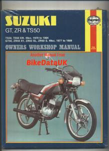 Suzuki-ZR50S-TS50-GT50-1977-1989-Haynes-Repair-Manual-GT-ZR-TS-50-ER-X1-CG69