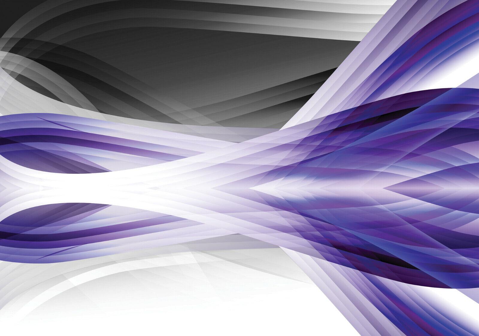 VLIES Fototapete-ABSTRAKT DESIGN-(2591)-Welle Illusion Optik Muster Lila Dekor