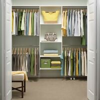 White 72 X 96 Essential Plus Closet Kit Wardrobe Clothing Storage Organizer