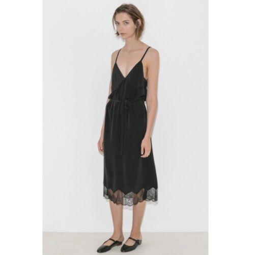 ZADIG & VOLTAIRE Black Silk Cage Slip Dress