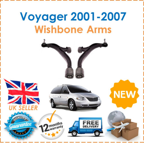 For Voyager Grand Voyager 2001-2007 Two Front Lower Suspension Wishbone Arms