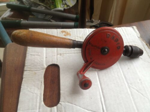 Vintage Rapid HAND DRILL Working MADE IN ENGLAND.
