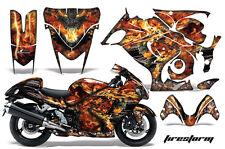 Graphic Kit Suzuki GSXR Amr Racing 1300 Hayabusa GSX Part Bike Decal Wrap FIRE