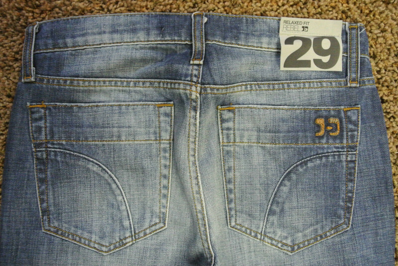 Men's Designer JOE'S REBEL Relaxed Jeans 29X32 NWT'S  Tanner Wash Distressed