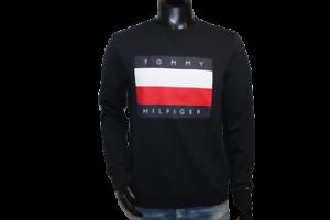 Neu Tommy Hilfiger Herren Sweater Pullover schwarz