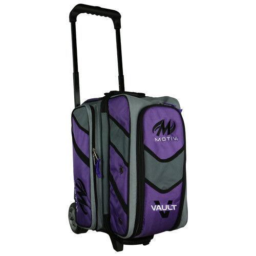 Motiv Vault 2 Ball Double Roller Bowling Bag Purple