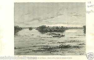 Rio-Paraguay-Formosa-Argentina-Argentine-South-America-GRAVURE-OLD-PRINT-1889