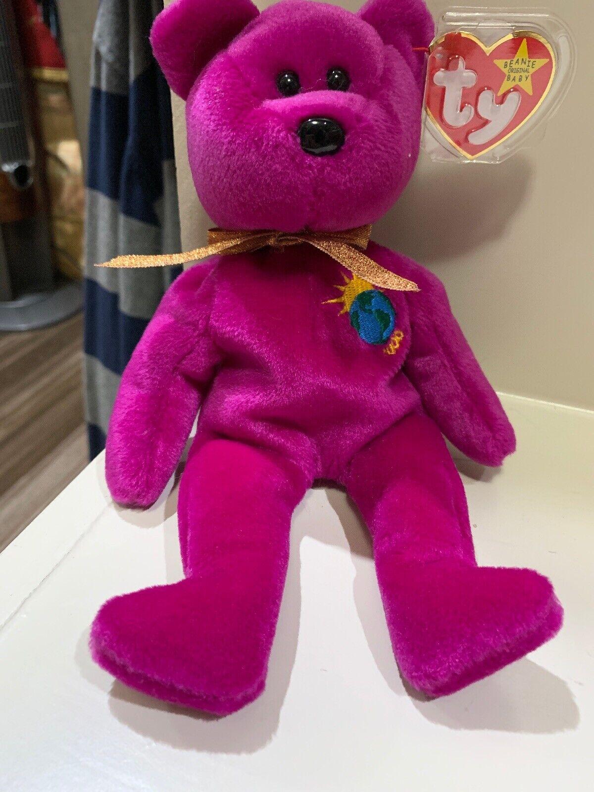 TY Beanie Baby 1999  Millenium  Bear Mint RARE Collectible ERRORS