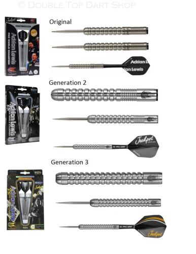 Adrian Lewis 90% Tungsten Steel Tip Darts by Target Generation G1, G2 and G3