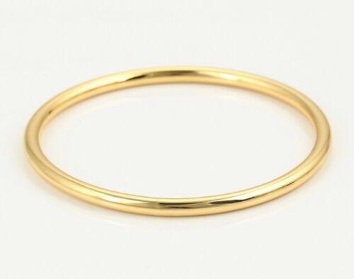 Oro Amarillo 24ct Lleno Gf sólido Llano Simple Pulsera Brazalete