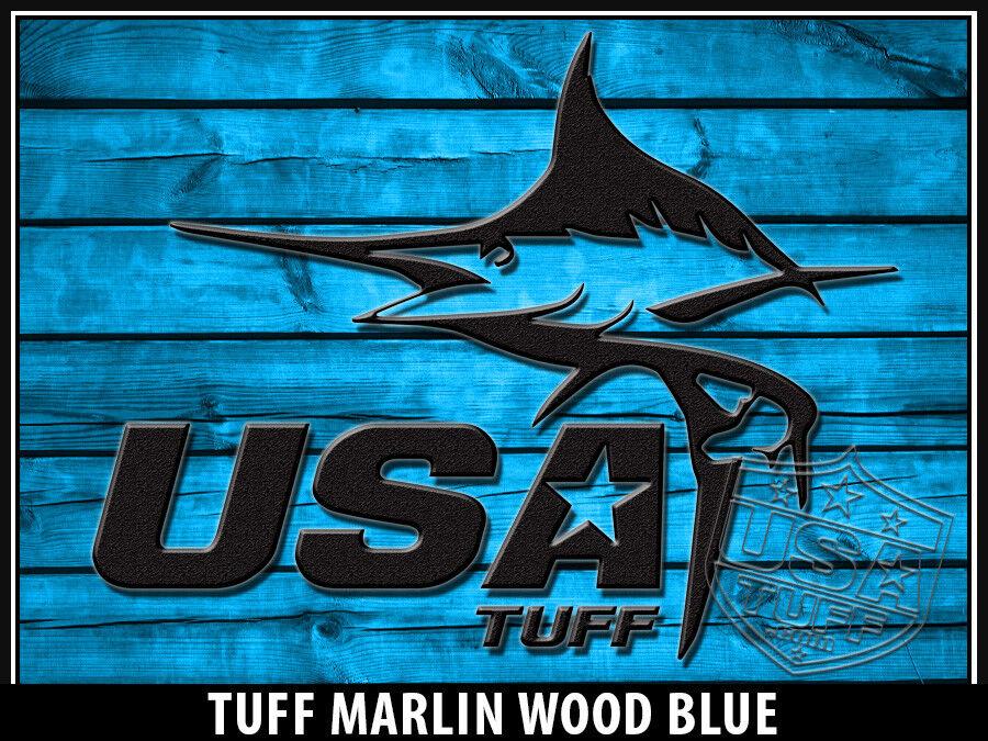 USATuff Custom Cooler Wrap fits fits fits Ozark Trail 73qt FULL Marlin Wood Blau b7867c