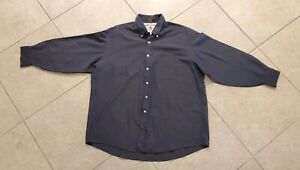 Tommy-Hilfiger-Mens-Button-Front-Long-Sleeve-Striped-Shirt-Size-17-5-Blue