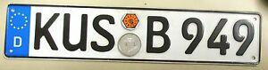 Vintage-GERMAN-D-DEUTSCHLAND-LICENSE-PLATE-KUS-B949-over-20-034-long-man-cave-sign