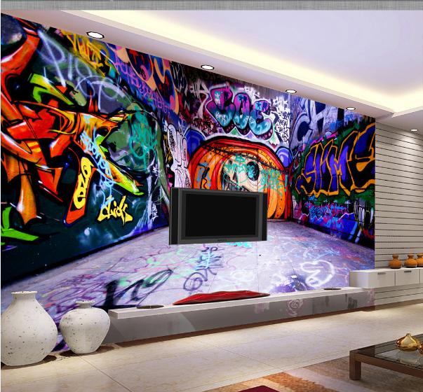 3D Blau Graffiti Wall739 Wallpaper Mural Paper Wall Print Wallpaper Murals UK