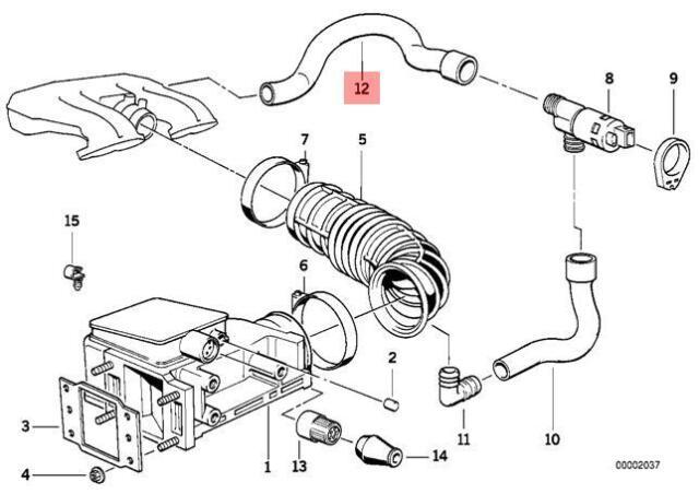 For Genuine Mass Air Flow Sensor Boot OES Branch Hose Tube For BMW E36 E46 E39