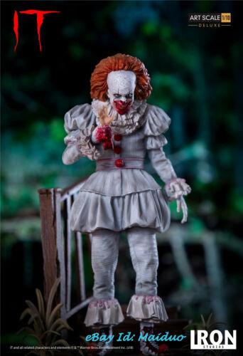 1//10 Scale Pennywise Joker Resin Figure IRON STUDIOS IT Collectible Figurine New