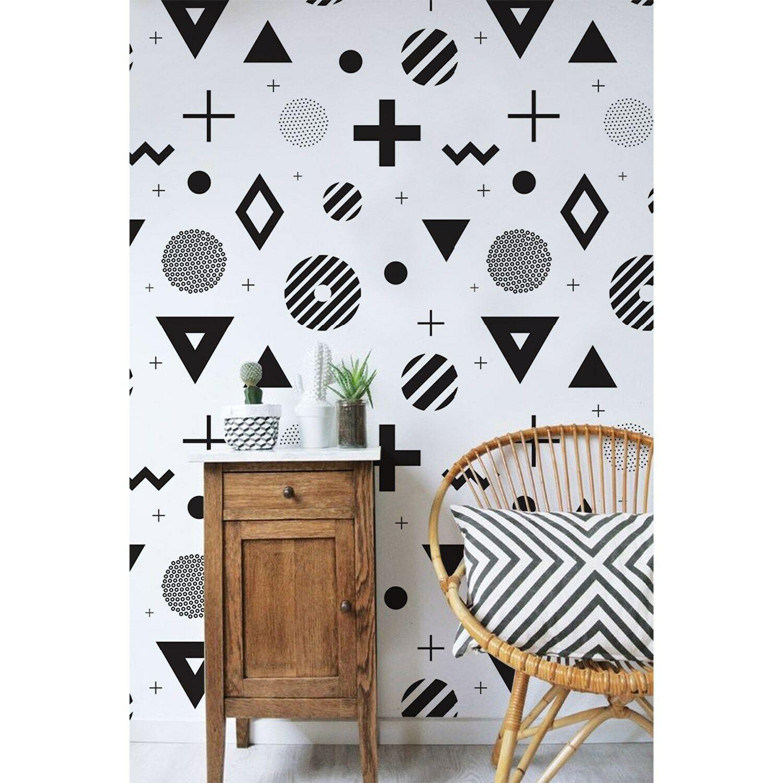 Abstract Geometric removable wallpaper Simple wall Wall Mural Scandinavian decor