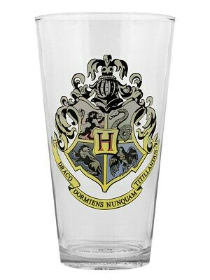 Harry Potter Drinking Glass Cold Changing Glass Hogwarts Crest 9x15cm