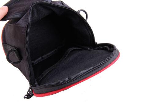 Cámara De Nylon Negro Cintura Hombro caso Bolsa Para Nikon Coolpix L820 L320 L330 L830