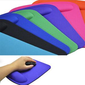 SUPPORTO da polso Mouse Pad Tappetino Mouse Per Computer PC Laptop Antiscivolo Soft Comfort e