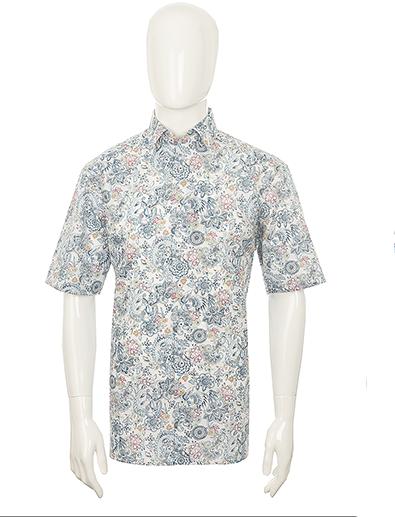Olymp Luxor comfort fit Oriental Print Shirt Blu - 2XL BIG BODY SRP .99
