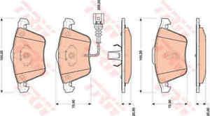 TRW-Front-Brake-Pads-Set-GDB1809-BRAND-NEW-GENUINE-5-YEAR-WARRANTY