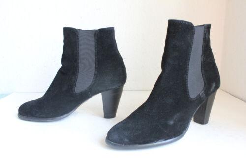 5 Görtz Elegante Boots Luxus 38 38 Eu Chelsea Schwarz Ludwig Wildleder aPvqCCd